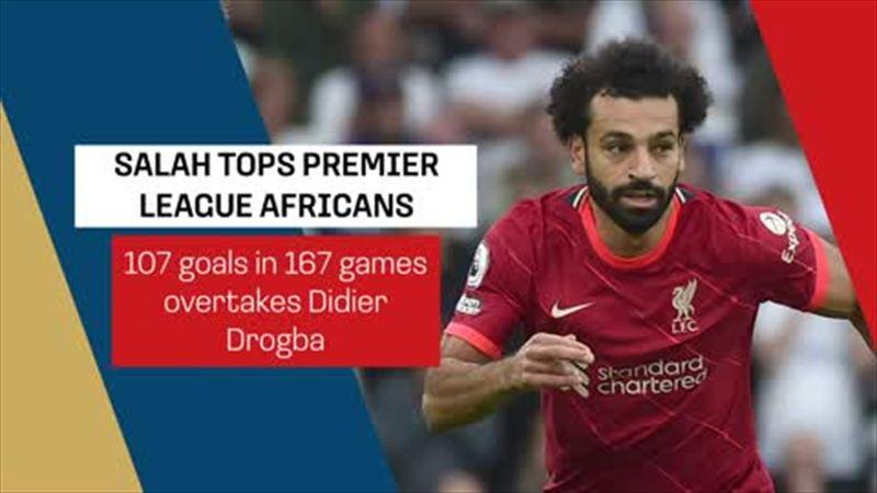 Salah top African goalscorer in Premier League history