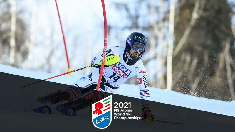 WK Alpineskiën|1e Run Slalom Mannen