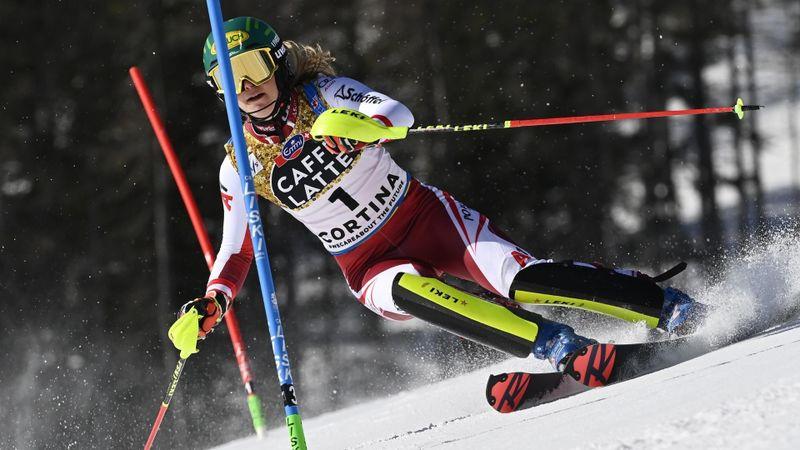 Åre Damer, slalom - 2:a åket