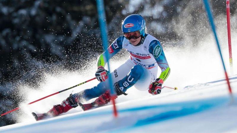 Åre Damer, slalom - 1:a åket