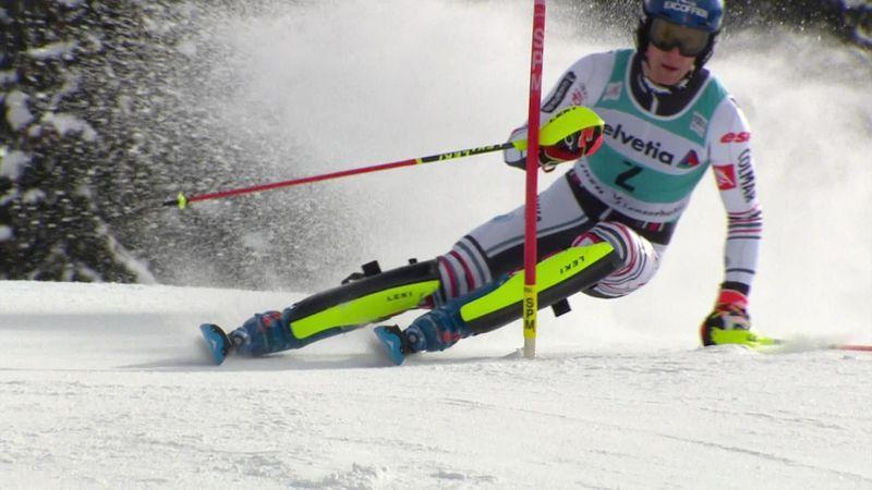 Lenzerheide Slalom uriaş masculin - Manşa a 2-a