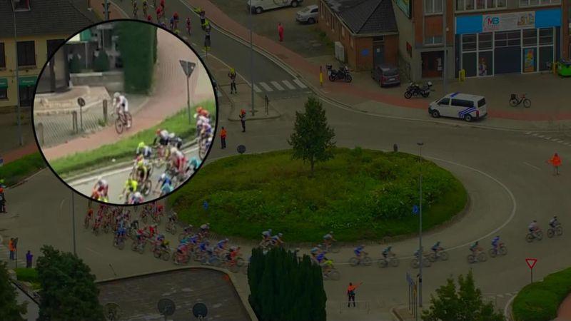 Clásica de Bruselas 2019: El inexplicable error de Van der Poel en la rotonda a lo ciclocross