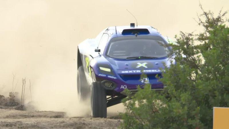 Un 360 pour éviter le crash de justesse : Gutierrez, coéquipière de Loeb, a eu chaud