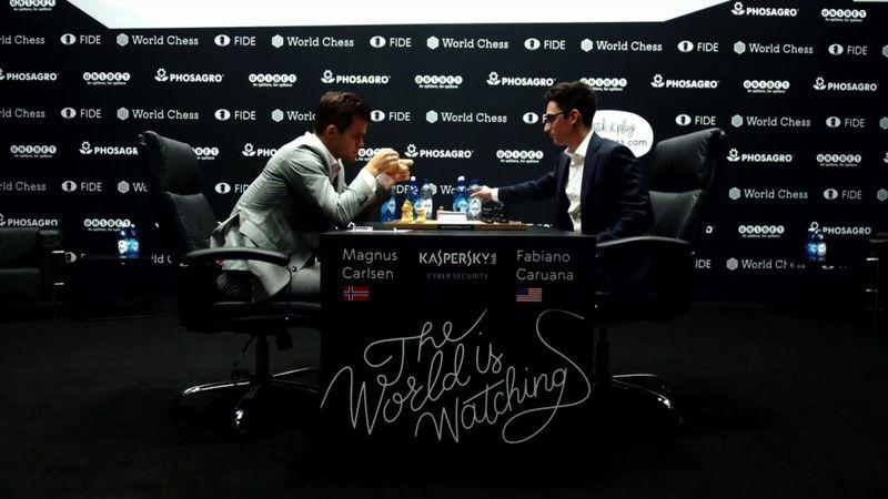 Schaaktweekamp | Highlights 2e WK-partij Magnus Carlsen - Fabiano Caruana
