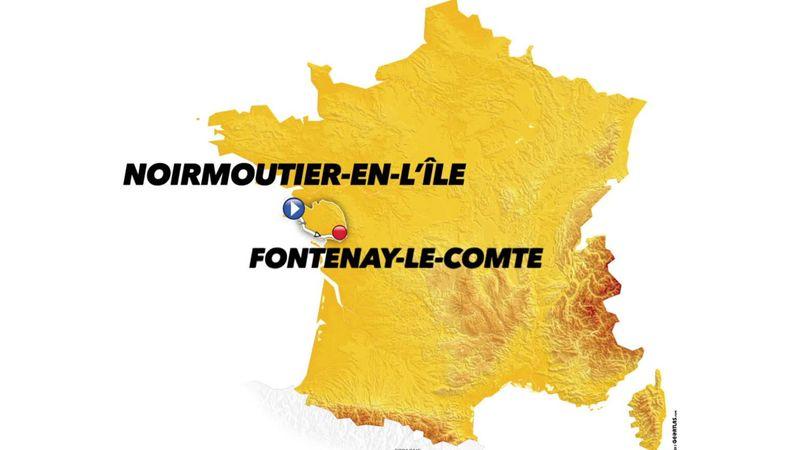 Så körs den första etappen i Tour de France