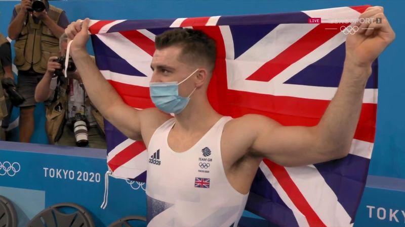 'Sensational' - GB's Whitlock celebrates gold after pommel horse heroics