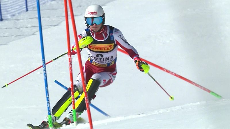 'Can you believe that?' - Pertl leads slalom at halfway stage on debut