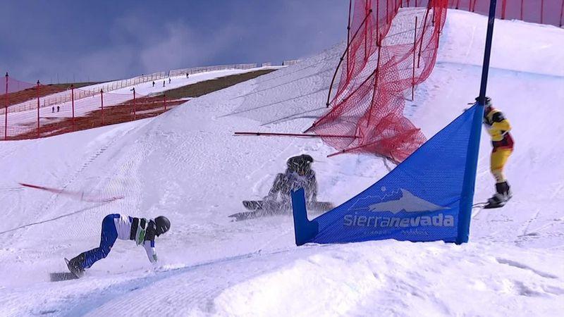 Snowboard cross, Copa del Mundo: Perathoner y Kearney, contra la red en la semifinal