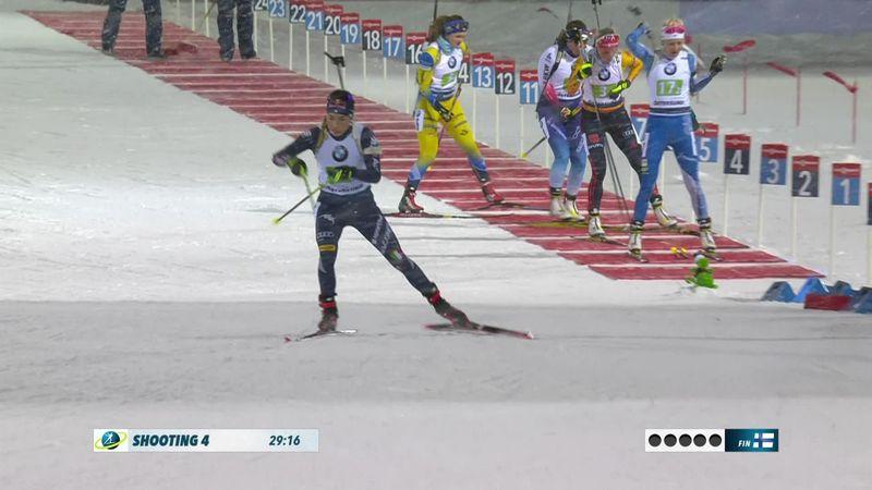 Юрлова ушла лидером с первой стрельбы, но штрафной круг стоил России медали в смешанной эстафете