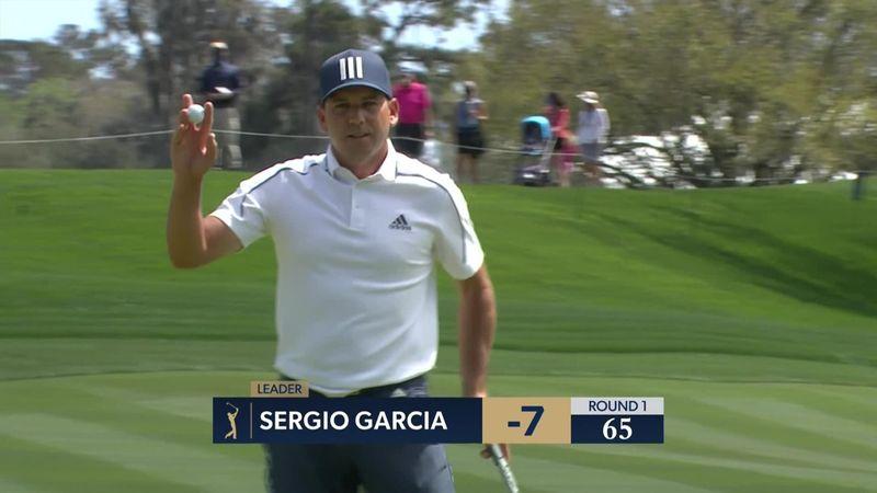 El fantástico 'eagle' de Sergio García para terminar líder