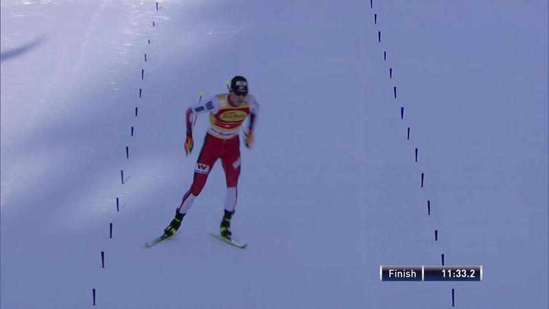 Seefeld: Jarl Magnus win the Men Individual 5km cross-country skiing run