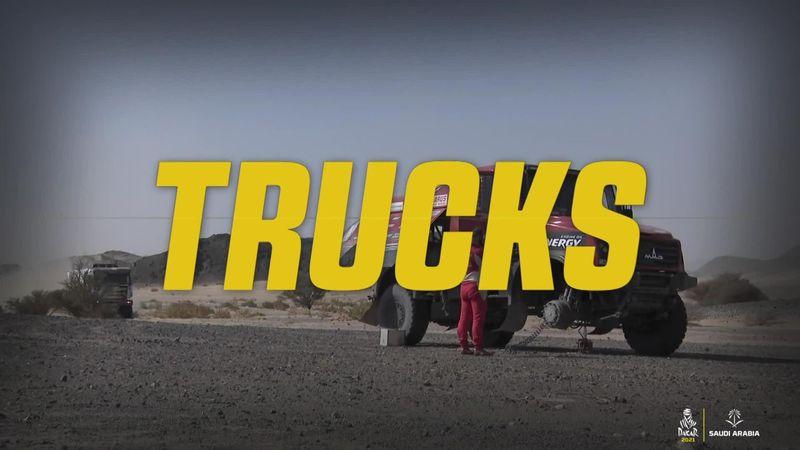 DakarRally highlights, trucks - Sotnikov triumphs on Stage 4