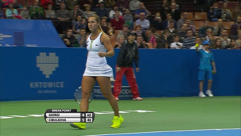 Cibulkova clinches Katowice title with win over Giorgi