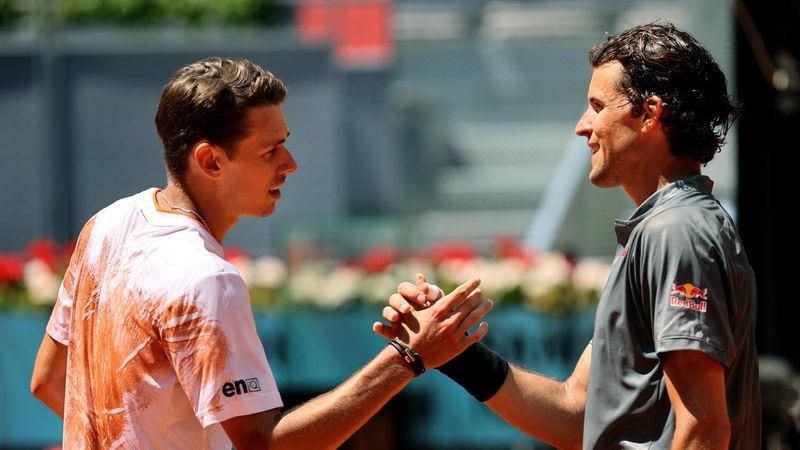 Доминик Тим – Алекс де Минаур. ATP Мадрид – лучшие моменты матча