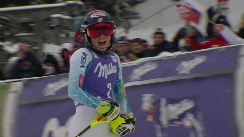 Mikaela Shiffrin dominates but loses title after injury-hit season