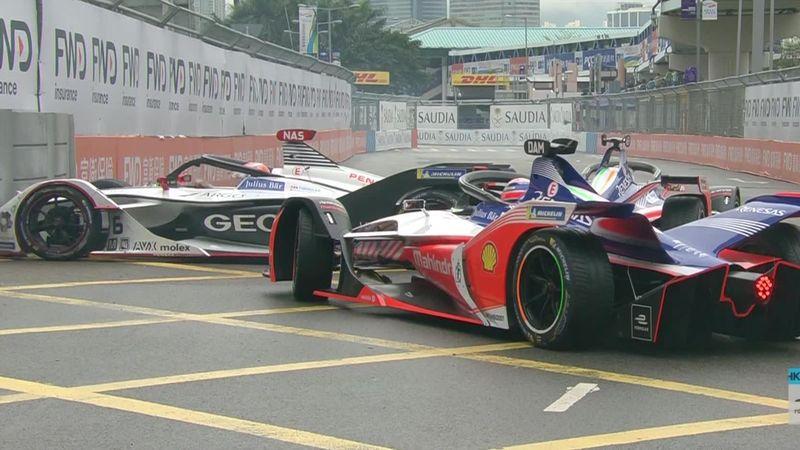 Wehrlein crashes into back of Nasr