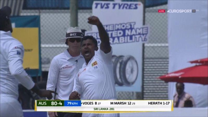 Herath takes hat-trick against Australia in dramatic circumstances