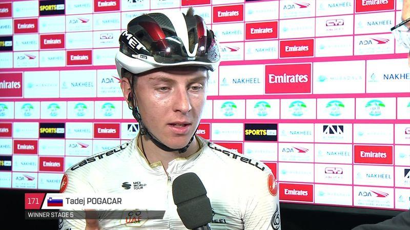 UAE Tour: Stage5 : Interview Pogacar
