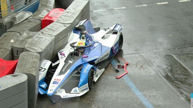 Fórmula E: La lluvia provocó este brutal choque de Alexander Sims
