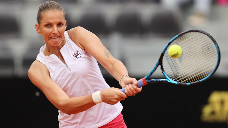 Каролина Плишкова – Алена Остапенко. WTA Рим – лучшие моменты игры