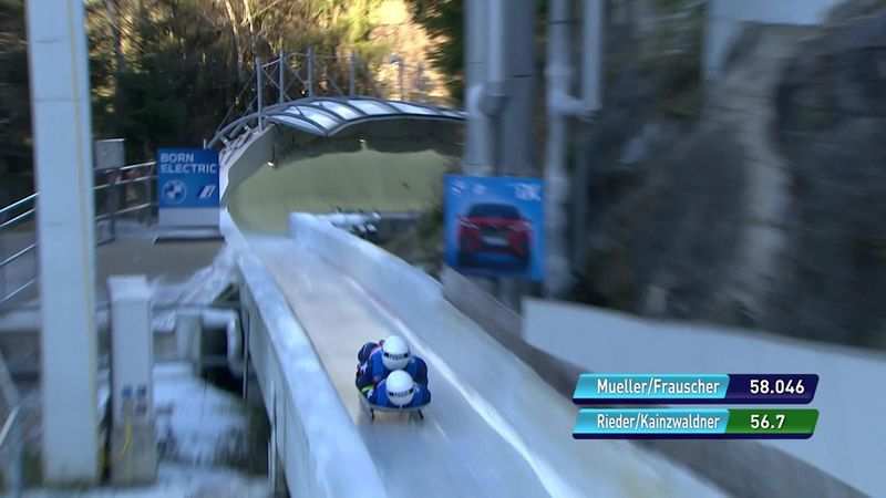 Rieder and Kainzwaldner suffer big crash during 2nd run of double luge