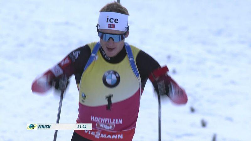 Johannes Thingnes Boe, victorie în pursuitul de la Hochfilzen