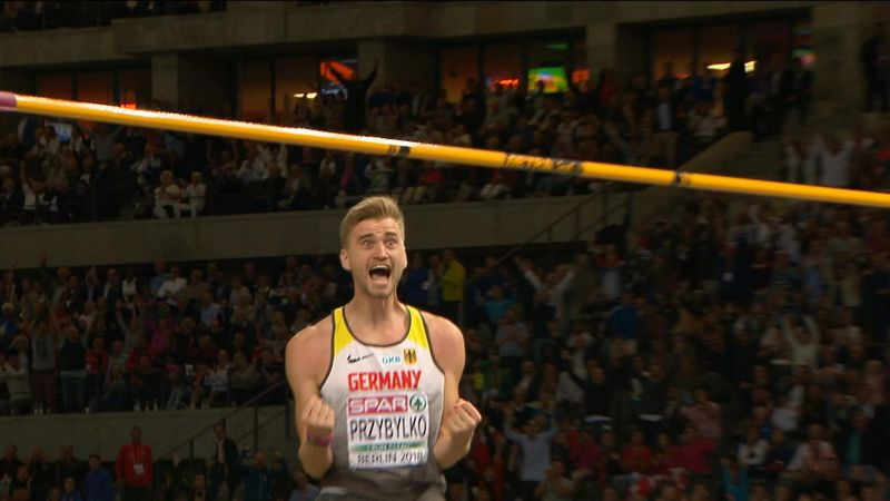 Przybylko matches lifetime best to win high jump