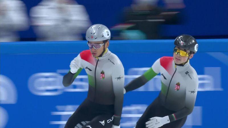 Pokoli jó előjelek az olimpia előtt: taroltak a magyar rövidpályás gyorskorcsolyázó fiúk 500 méteren