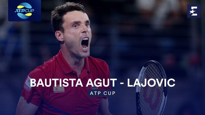 Høydepunkter: Bautista Agut - Lajovic