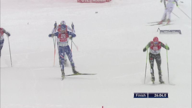 Riessle sneaks victory in Nordic combined in Ramsau