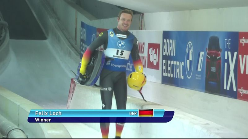 'Phenom of luging' Loch wins again in Innsbruck