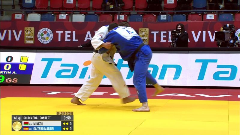 Alberto Gaitero conquista el oro en 66kg en el Grand Slam de Tel Aviv