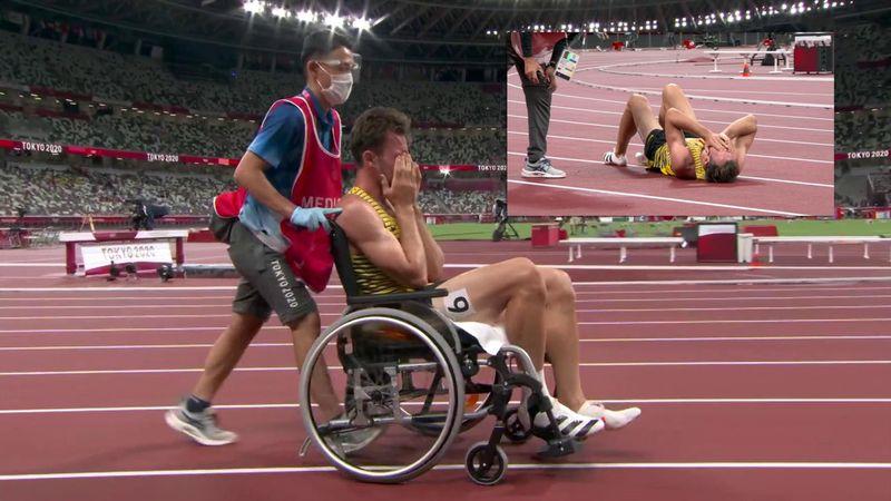 """""""Nein! Nein!"""" Rollstuhl statt Medaille - hier platzt Kauls großer Olympia-Traum"""