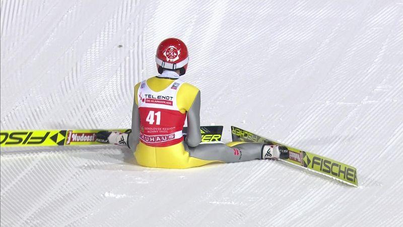 Salto con gli sci: che brutta caduta di Richard Freitag a Nizhny Tagil