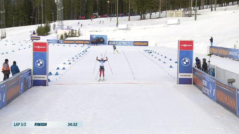 Highlights: Tandrevold wins mass start race in Ostersund