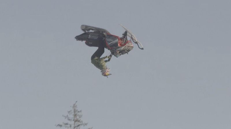 Bodin becomes first snowmobile freestyler to land double backflip