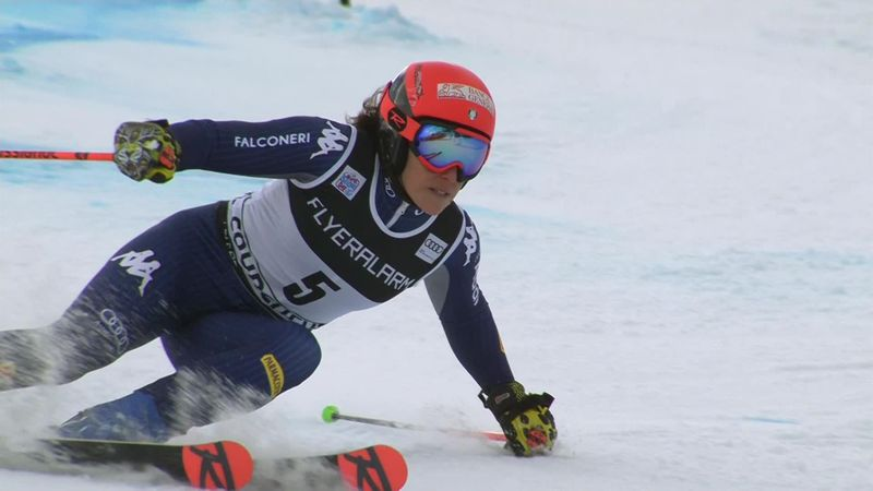 Alpineskiën | Federica Brignone de snelste over twee runs in Courchevel