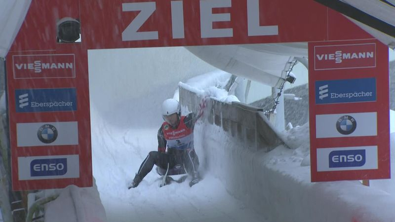 Conditions take their toll as Sin-Rong Lin crashes in Altenberg luge run