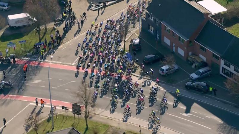 Riders nearly crash into spectator