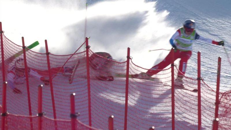 Espectacular caída múltiple en Val Thorens cuando luchaban por la victoria