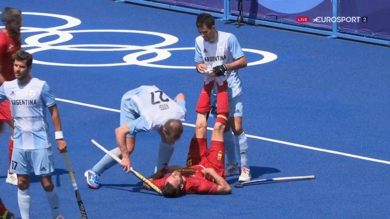Hockey hierba | ¡Intolerable! El golpe de Rossi a Alegre con el stick en la cabeza