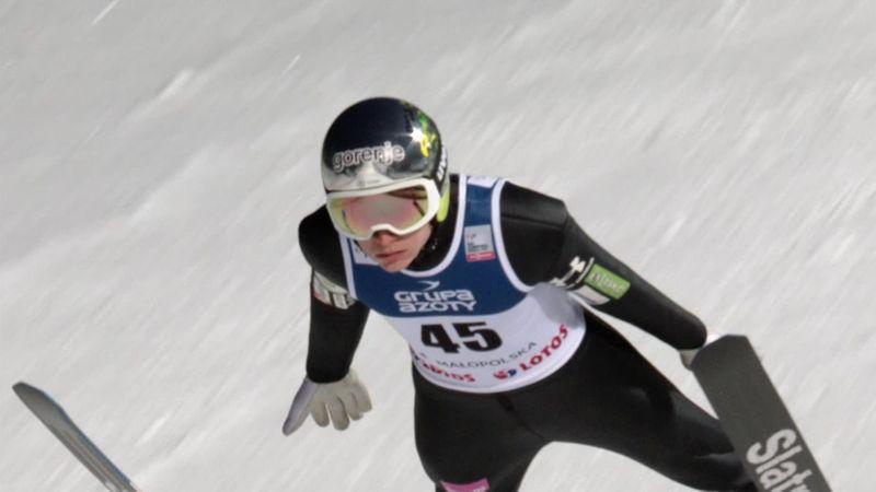 Lanisek leader dopo il primo giro di salti a Zakopane