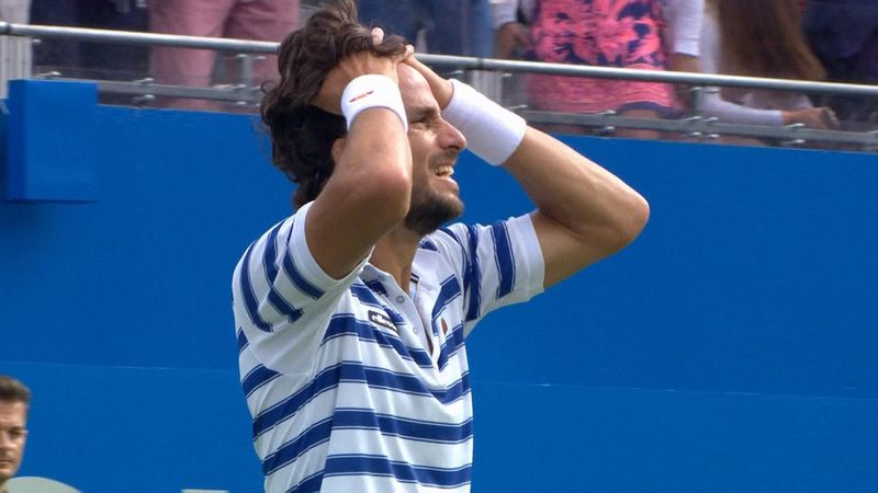 Highlights: Lopez beats Cilic to take Queen's title