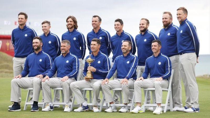 Muchas risas y buen ambiente: así fue la foto oficial del equipo europeo de la Ryder Cup 2021