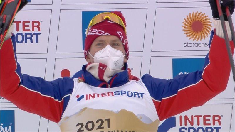 Highlights: Alexander Bolshunov takes gold in men's skiathlon