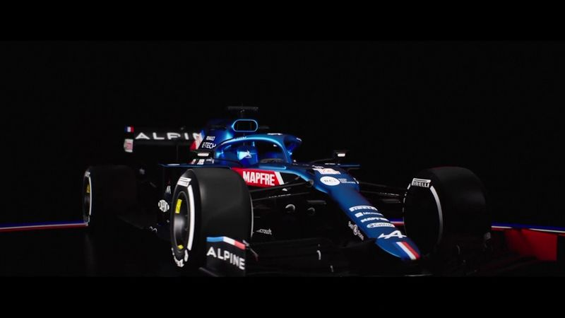 Alpine A521, il video della monoposto di Alonso e Ocon