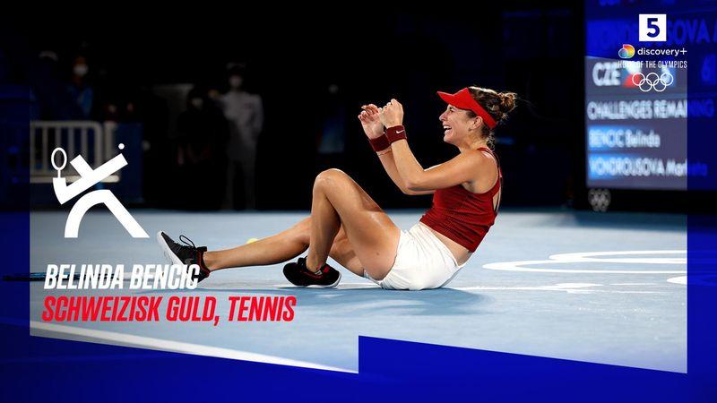 Highlights: Bencic sikrede Schweiz tennisguld efter 150 minutters drama
