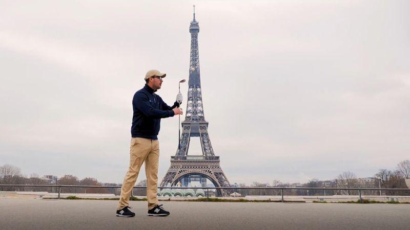Ballgefühl par excellence: Golf-Tricks im Schatten des Eifelturms