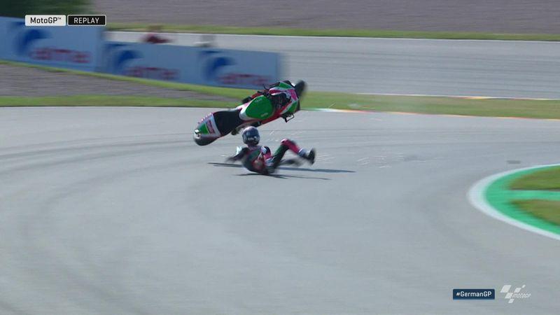 Aleix Espargaro mist Duitse GP na crash in warming-up