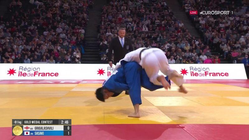 Deux attaques de classe pour prendre l'or : revivez le titre de Sasaki en -81 kilos